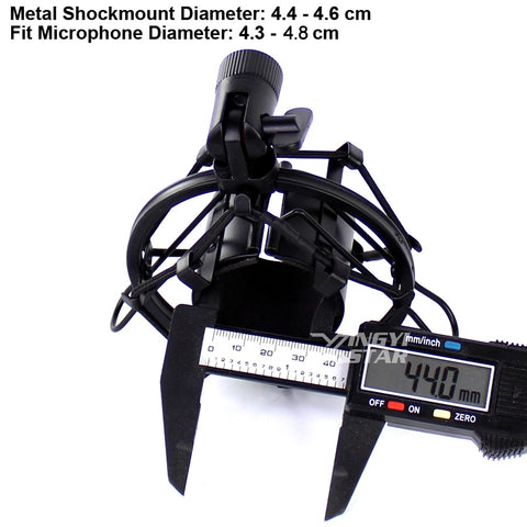 Recording Studio Microphone Stand Shock Mount For Computer Condenser Mic Holder Metal Shockmount