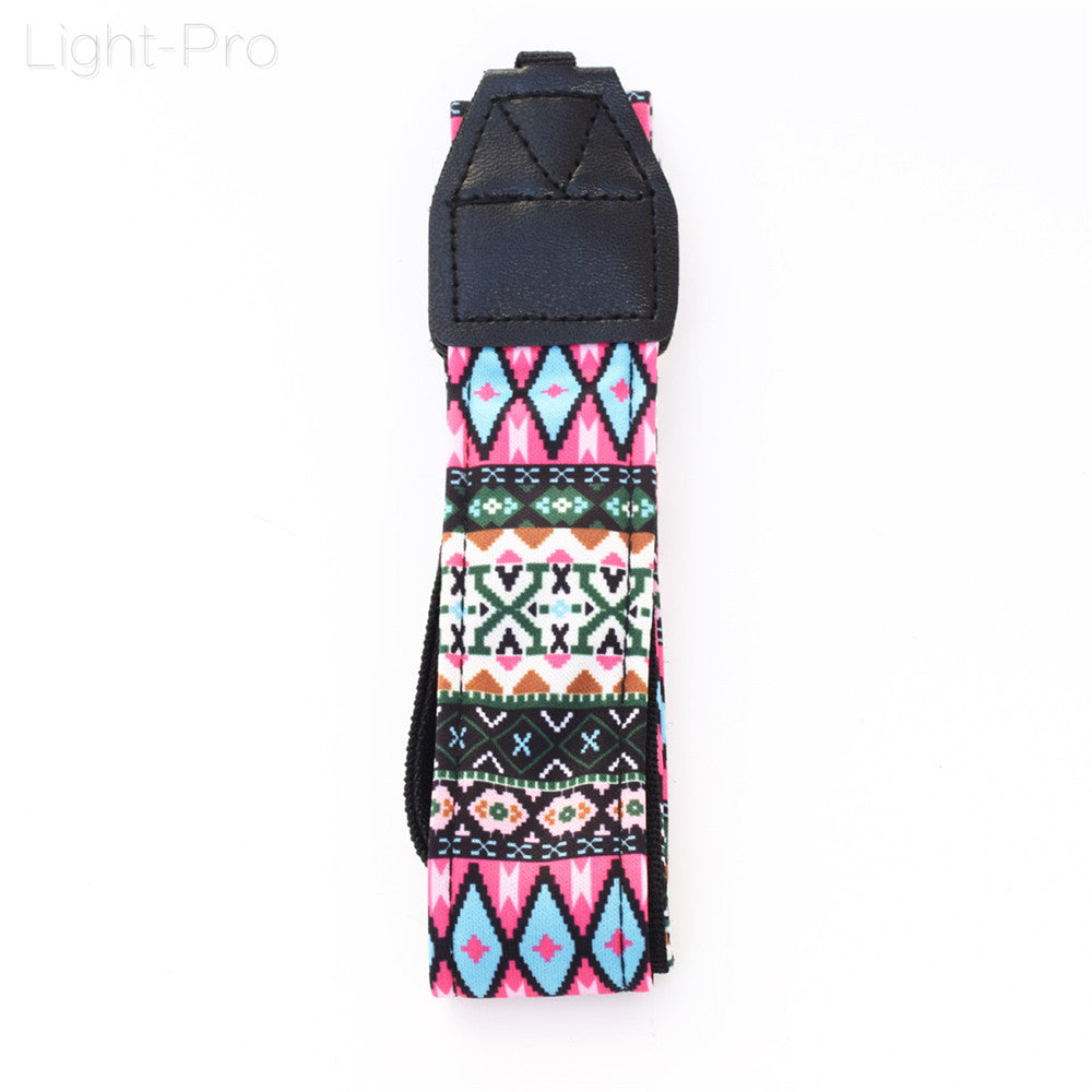 Retro Style Double Cotton Yard Colorful Pattern Camera Shoulder Neck Sling Hand Strap Belt For Canon