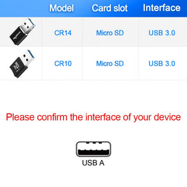 Rocketek usb 3.0 multi memory card reader adapter mini cardreader for micro SD/TF microsd readers