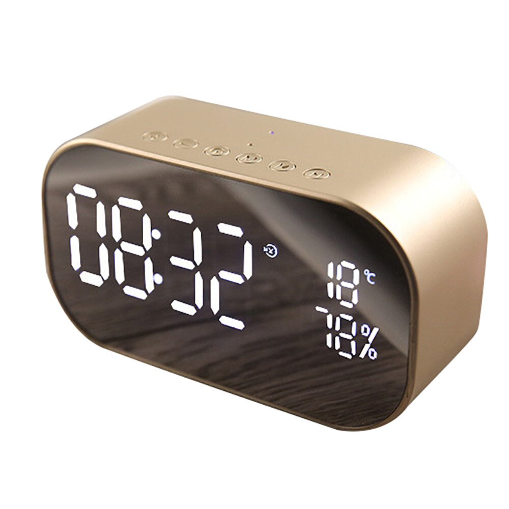 S2 Mini Bluetooth Wireless Super Bass Speaker TF Card Audio Alarm Clock Home New Fashion Drop