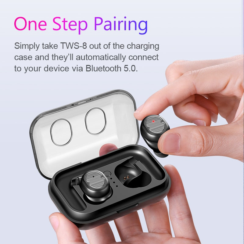 SANLEPUS TWS 5.0 Wireless Headphones Bluetooth Earphones Sports Earbuds Stereo Headset Handsfree