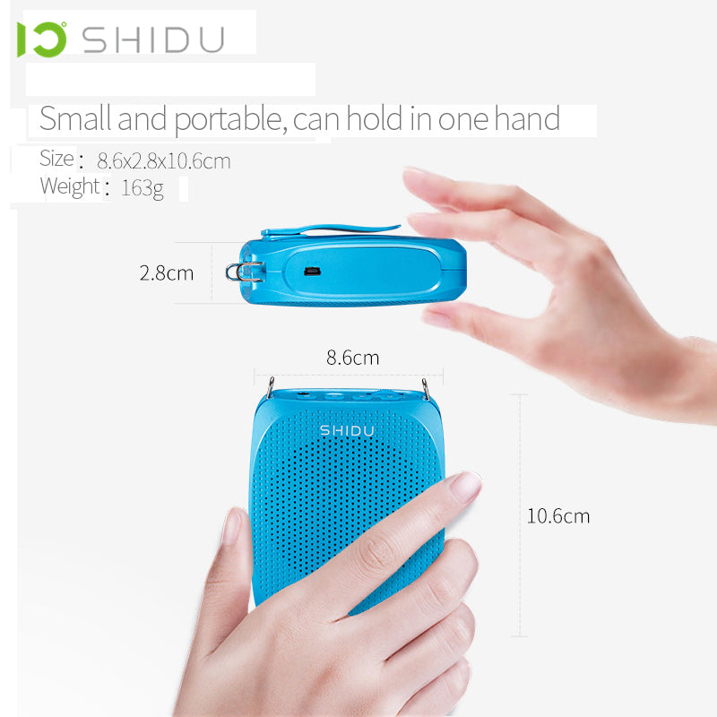 SHIDU Ultra Wireless Portable UHF Mini Audio Speaker USB Lautsprecher Voice Amplifier For Teachers