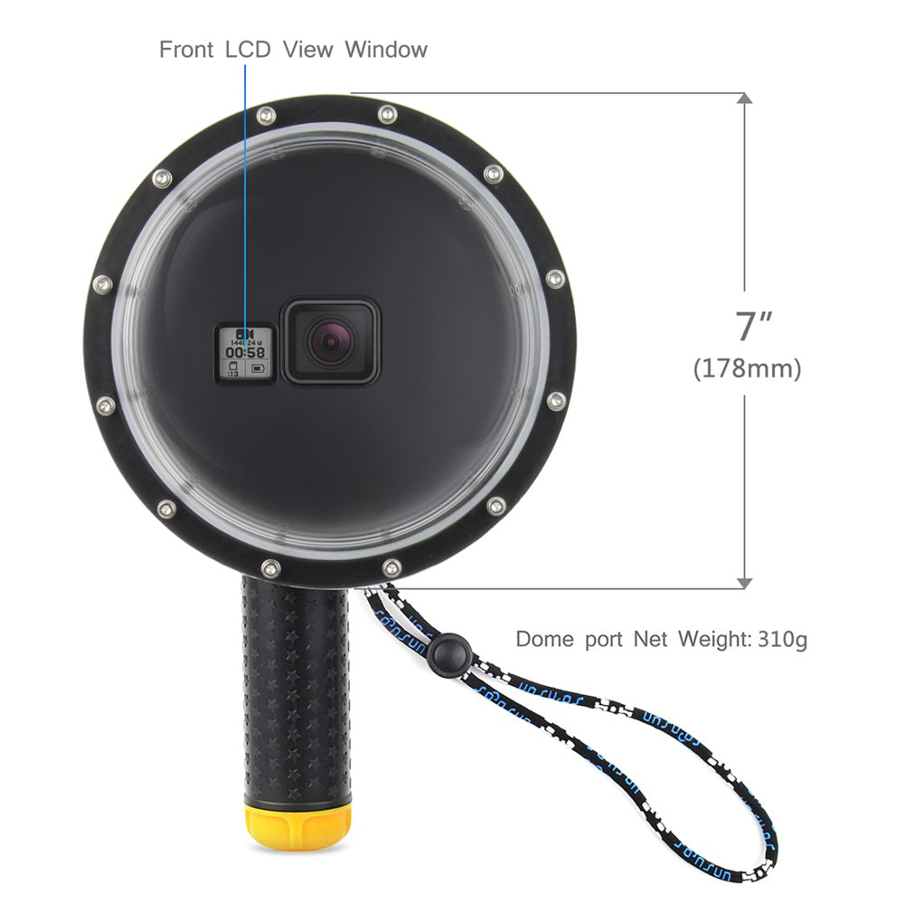 "SOONSUN 6"" Waterproof Dome Port Cover for GoPro Hero 5 6 7 Black Camera Lens Dome Waterproof Case"