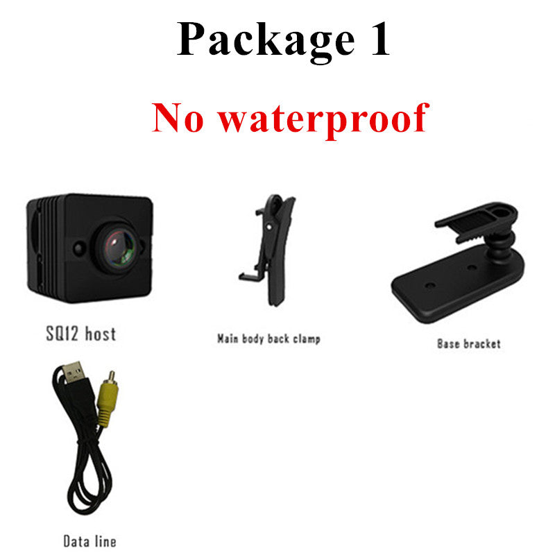 SQ12 HD 1080P Mini Camera Night Vision Camcorder Sport Outdoor Car DVR Infrared DV Video voice for