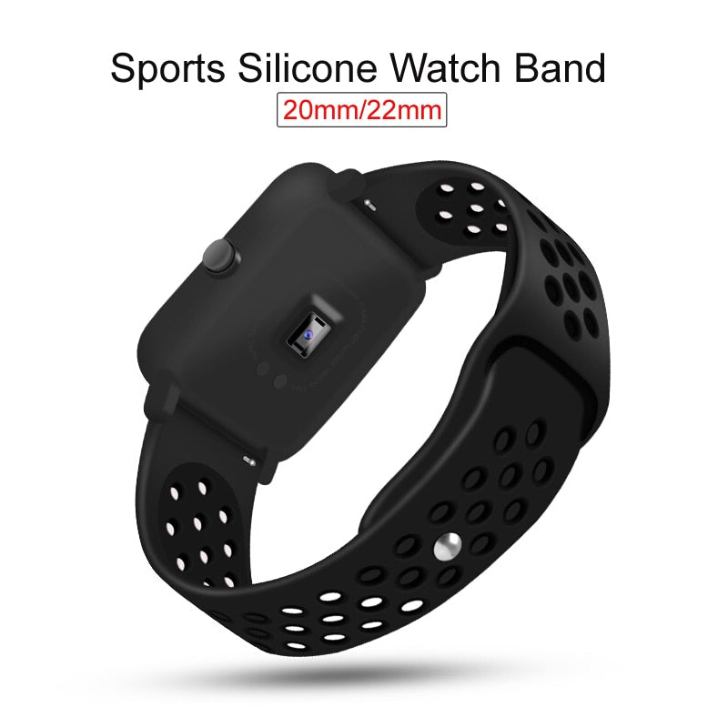 Silicone Strap Bracelet For Huami Amazfit Bip Strap stratos pace