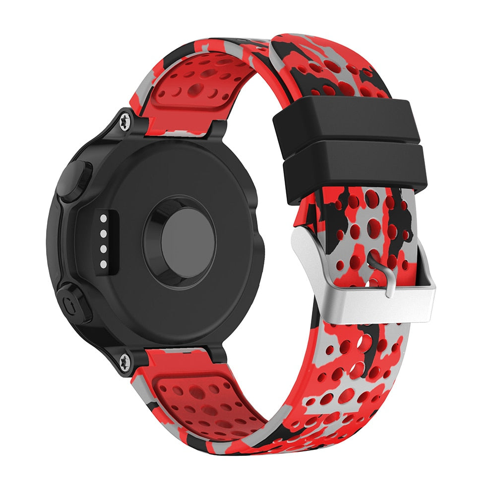 Soft Silicone Watch Strap Replacement Wrist Watch Band For Garmin Forerunner 735/220/230/235/620/630