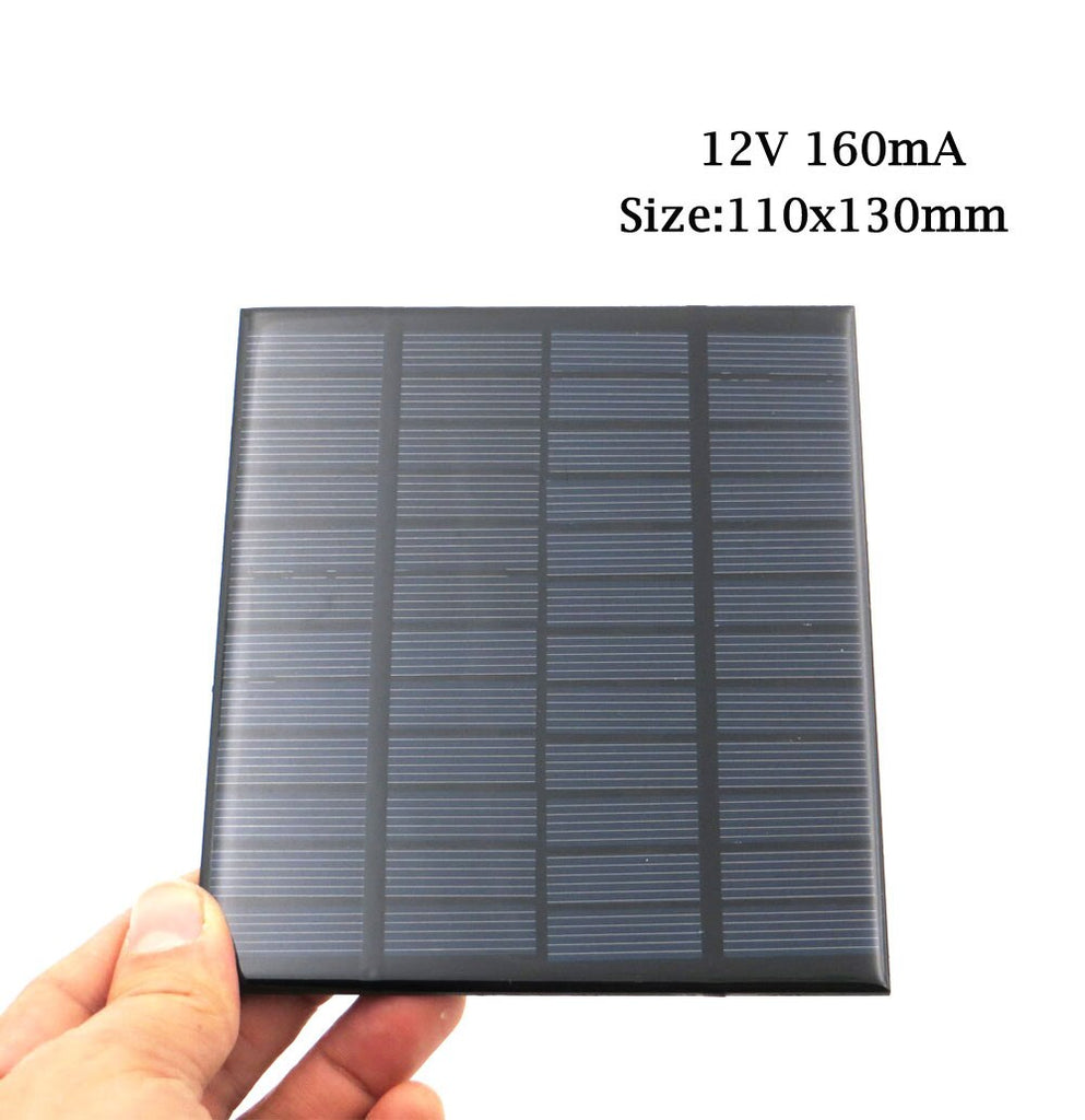 Solar Cell 12V DC Mini Solar Panel kit DIY For Battery Cell Phone Chargers Portable 12 V Volt 1.5W