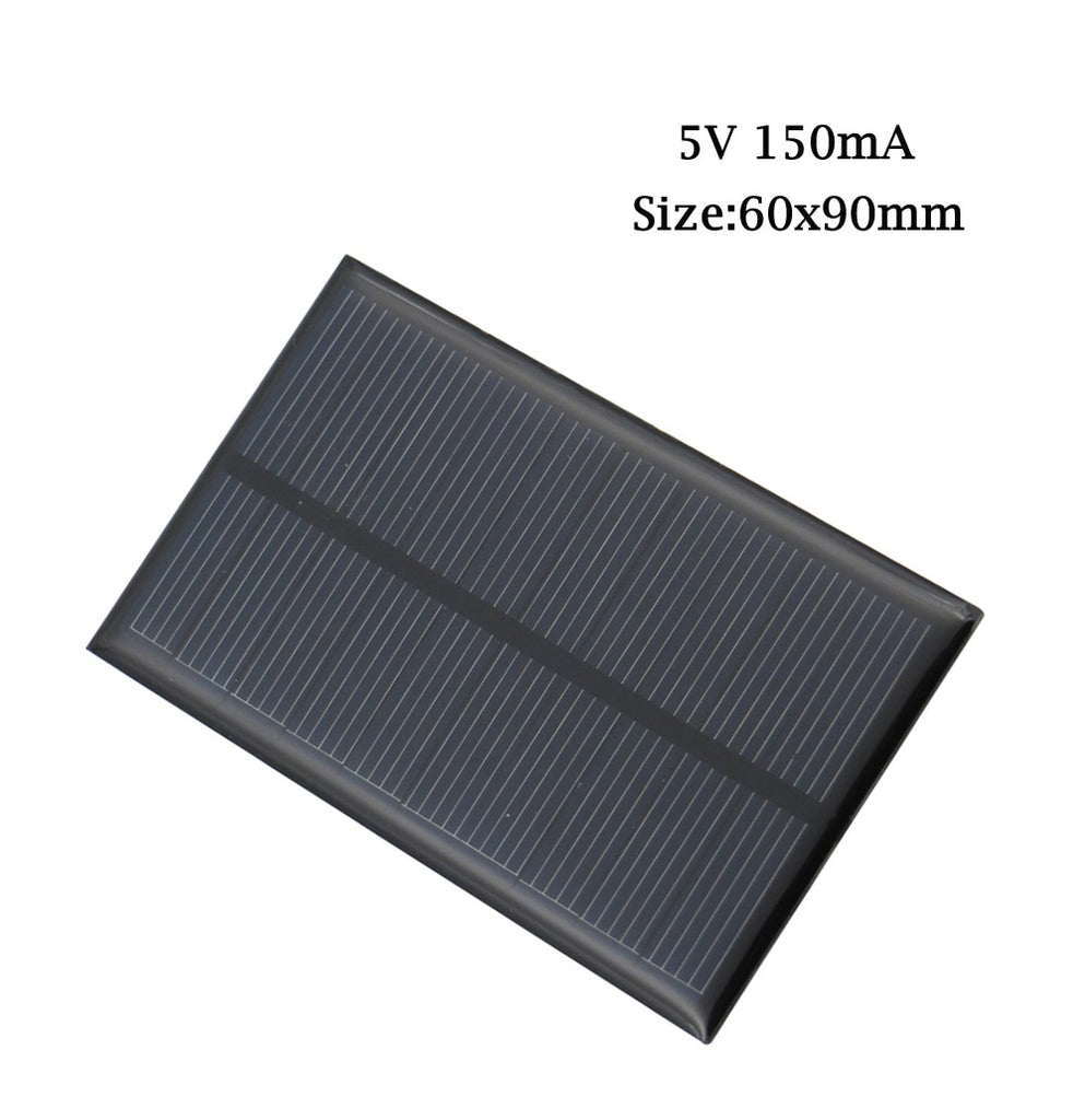 Solar Panel 5V Mini Solar System DIY For Battery Cell Phone Chargers Portable 0.7W 0.8W 1W 1.2W 2.5W