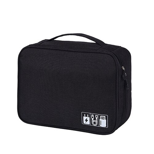 Solid Digital Bags Hard Disk Case Bag Packing Organizers Travel Accessories Power Bank Mobile