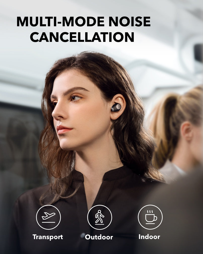 Anker Life A2 NC Multi-Mode Noise Cancelling Wireless Earbuds, ANC Bluetooth Earbuds with 6-Mic