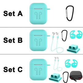 Stylish Case for Airpods 1 2 Case Cute Anti-lost Rope Sports Dock for Apple Airpods 2