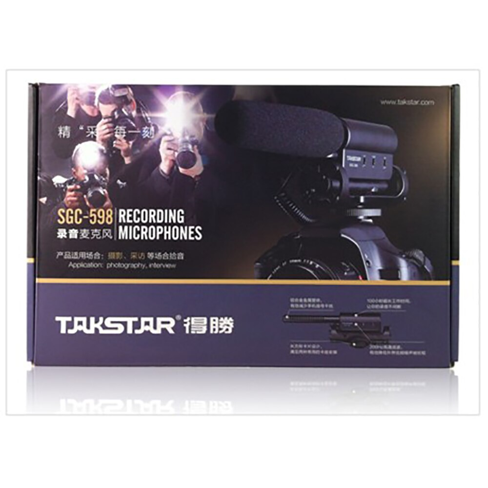 TAKSTAR SGC-598 Microphone FOR Canon/NIkon/sony Photography Interview on Camera Mic Photography