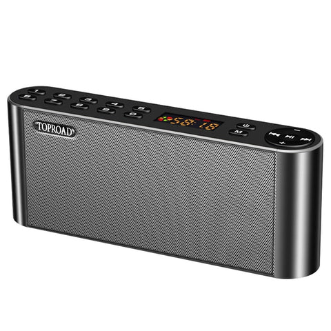 TOPROAD HIFI Bluetooth Speaker Portable Wireless Super Bass Dual Speakers Soundbar with Mic TF FM