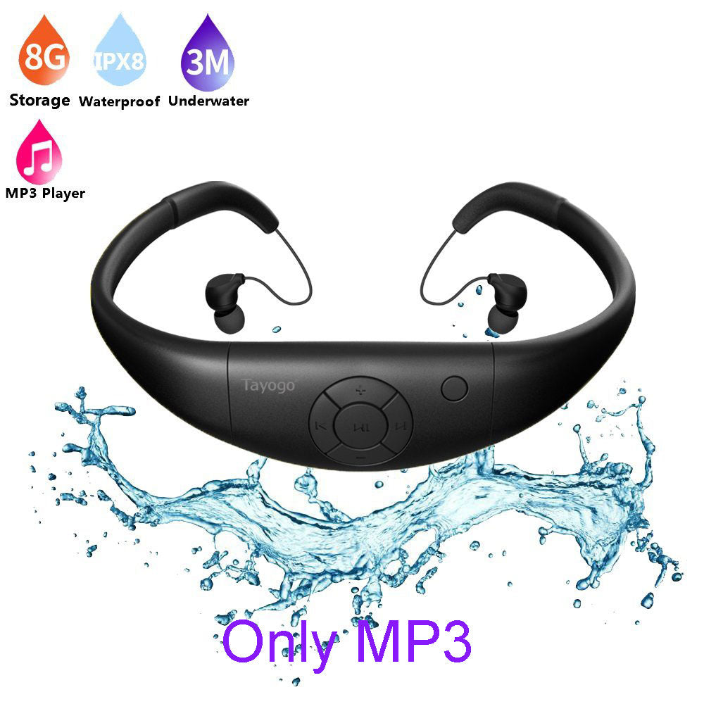 Tayogo Swimming Waterproof MP3 Music Player headphones Sports IPX8 bluetooth with FM radio bluetooth