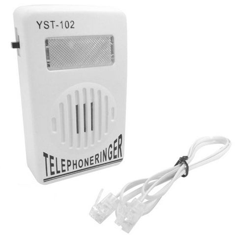 Telephone Ringer Up To 95dB phone phone Amplifier Strobe Light Flasher Bell Extra-Loud