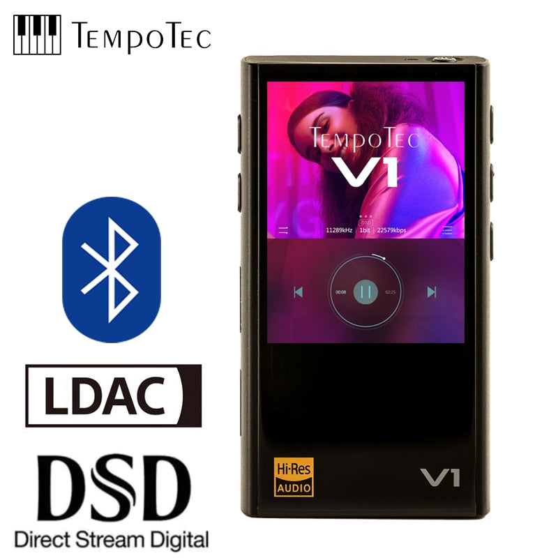 TempoTec Variations V1 Hifi Digital MP3 Player WITHOUT analog and supports Bluetooth LDAC IN&OUT for