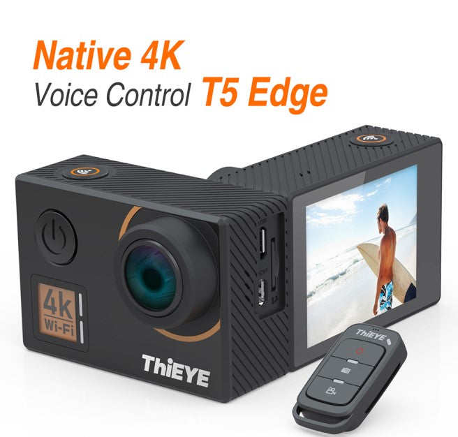 ThiEYE T5 Edge With Live Stream WiFi Action Camera Real 4K Ultra HD Sport Cam with EIS Voice Control