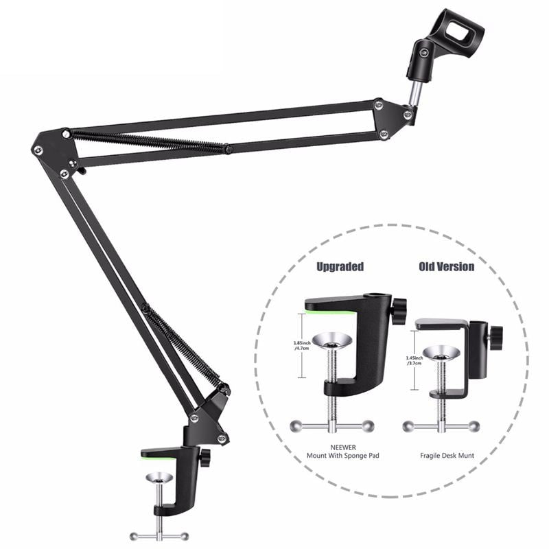 Top Deals NB-35 Microphone Suspension Arm Stand Clip Holder and Table Mounting Clamp Pop Filter