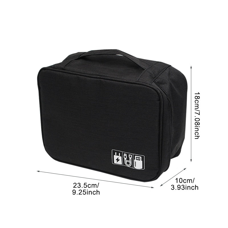 Travel Cable Bag Portable Digital USB Gadget Organizer Charger Wires Cosmetic Zipper Storage Pouch