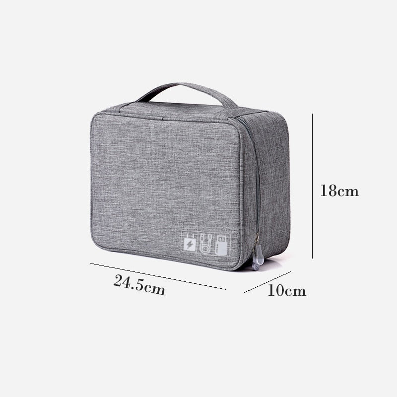 Travel Storage Bag Kit Data Cable U Disk Power Bank Electronic Accessories Digital Gadget Devices