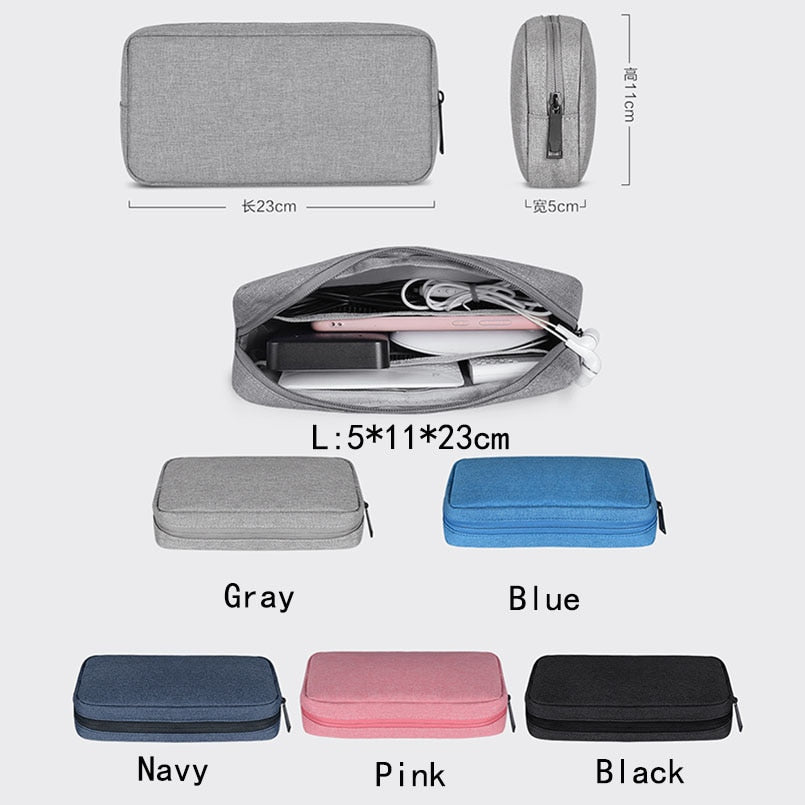 Travel Storage Portable Digital Accessories Gadget Devices Organizer USB Cable Charger Storage