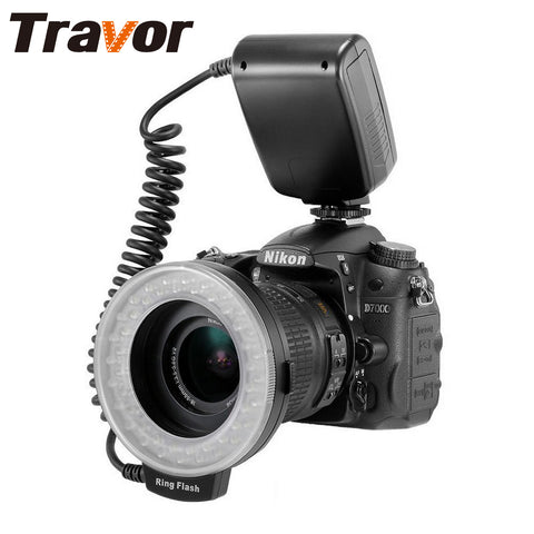 Travor RF-550D LED Macro Ring Flash light with 8adapter ring For Nikon Canon Pentax Olympus
