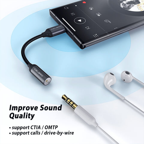 Type C 3.5mm Aux Adapter Usb C To 3.5MM Headphone Jack Adapter Audio Cable for Samsung Note 10