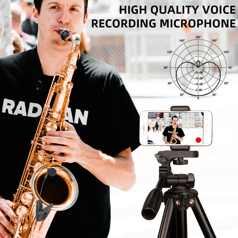 UHF Saxophone Mic Wireless Microphone System Clip on Musical Instruments