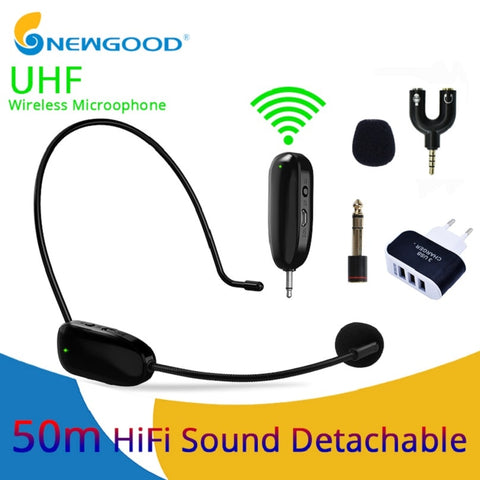 UHF Wireless Microphones Stage Wireless Headset Microphone System Mic
