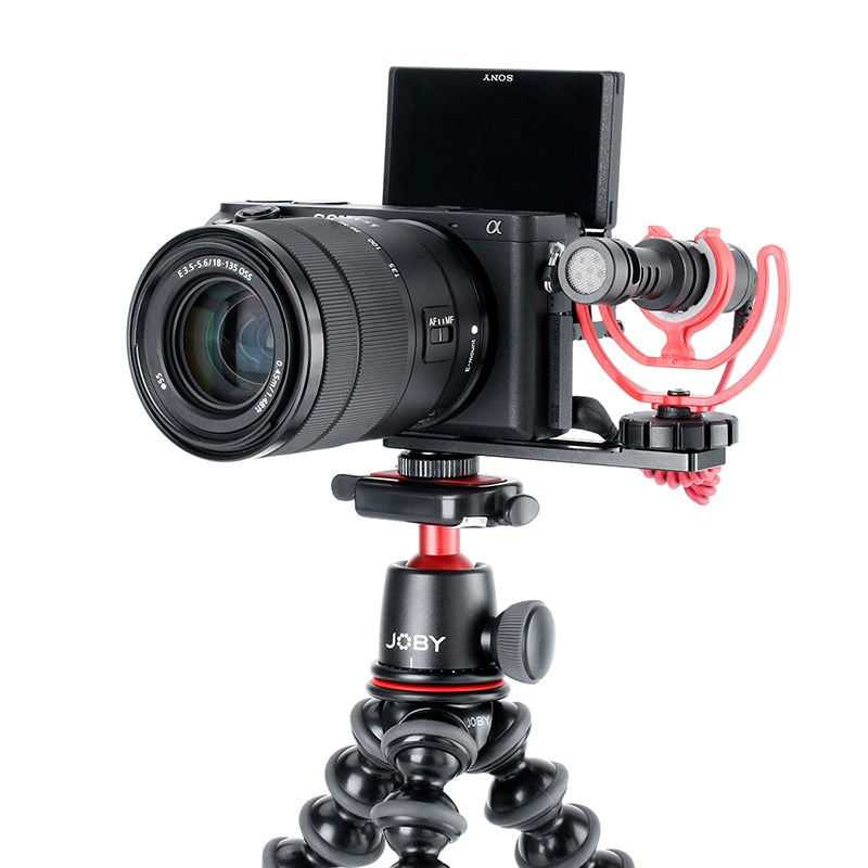 ULANZI PT-5 Vlogging Microphone Mount Tripod Adapter Bracket Stand for SONY A6400 A6500 A6300 Camera