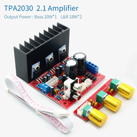TDA2030A 2.1 Channel Power amplifier Board TDA2030 Three channels Bass Treble Speaker amplifiers