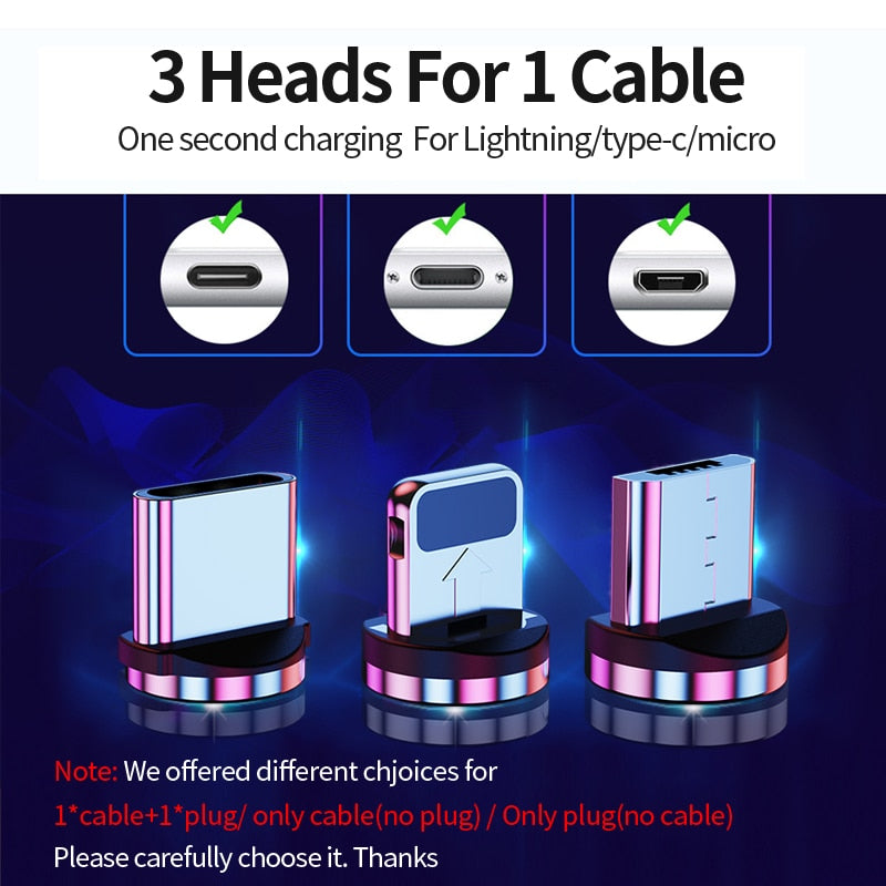 Udyr 2m Magnetic Micro USB Cable For iPhone Samsung Android Mobile Phone Fast Charging USB Type C