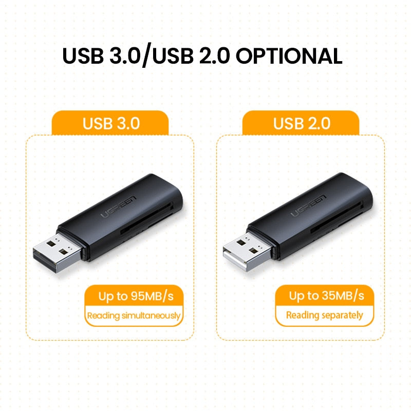 Ugreen Card Reader USB 3.0 2.0 to SD Micro SD TF Memory Card Adapter for laptop Accessories Multi