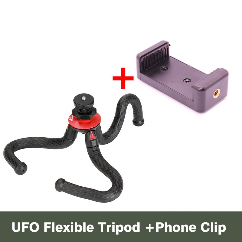 Ulanzi Mini Flexible Octopus Mobile Tripod With Phone Holder Adapter for iPhone X Smartphone DSLR