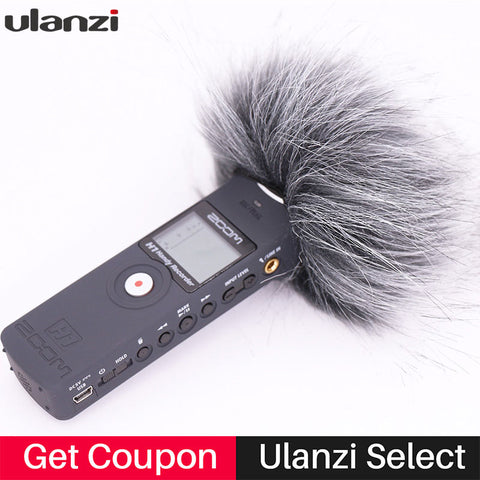 Ulanzi Outdoor Windscreen Deadcat Windshield for ZOOM H1 Handy Recorder Windshield Muff for zoom h1n