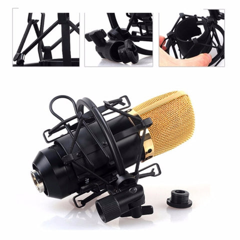 Universal 3KG Bearable Load Mic Microphone Shock Mount Clip Holder Stand Radio Studio Sound