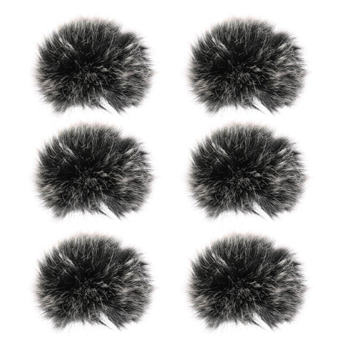 Universal Lavalier Microphone Furry Windscreen Fur Windshield Wind Muff Soft For SONY RODE BOYA Lapel Lavalier Mic 5mm