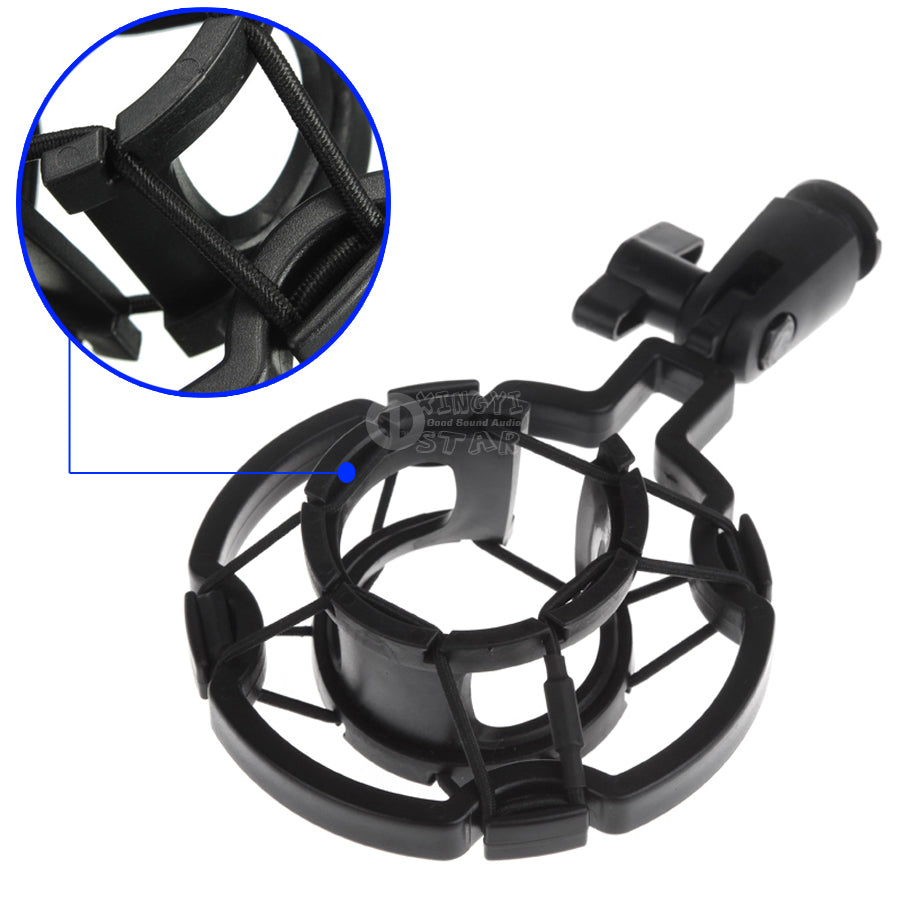 Universal Studio Mic Stand Microphone Spider Shock Mount Mike Clamp Clip Holder Shockproof For ISK