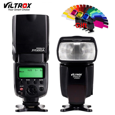 VILTROX JY-680A Universal Camera LCD Flash Speedlite for Canon 1300D 1200D 760D 750D 80D 5D IV 7D