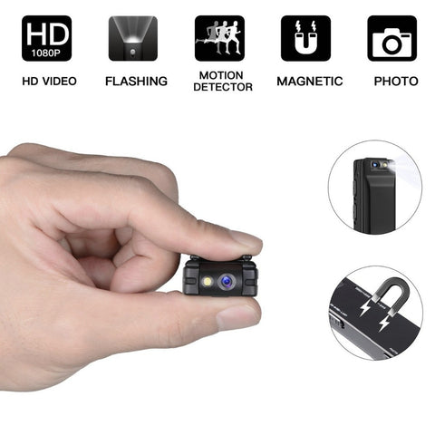 Mini Digital Camera HD Flashlight Micro Cam Magnetic Body Camera Motion Detection Camcorder