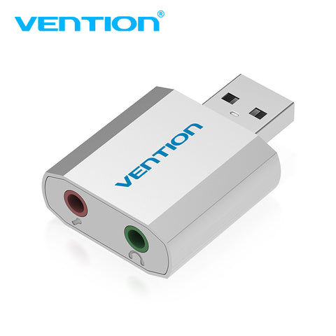 Vention Mini External USB Sound Card USB To 3.5mm headphone Adapter Audio Card