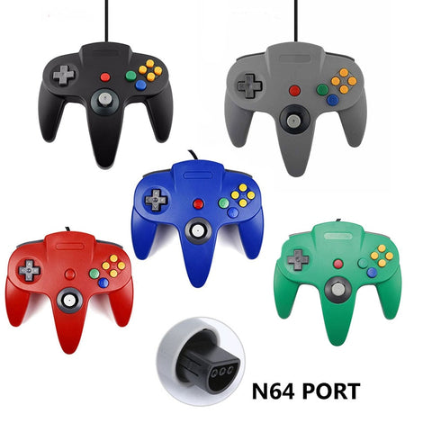 Wired N64 Gamepad Joypad Wired Gaming Joystick Game Pad for Gamecube and Mac Gamepads