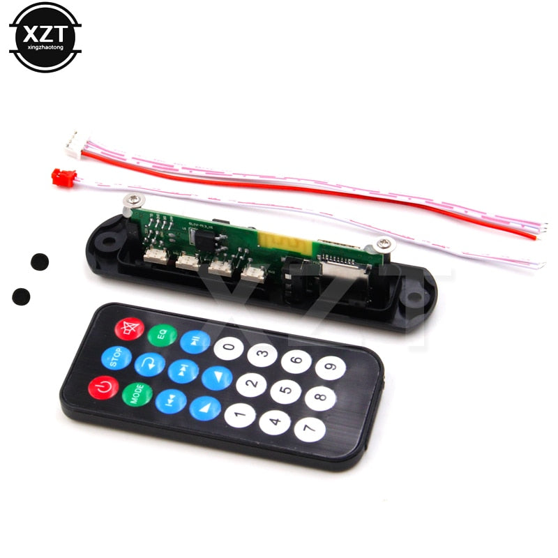 Wireless Bluetooth Audio Decoder Board Module MP3 Player LED MP3 decoder board FM AUX 12V USB TF