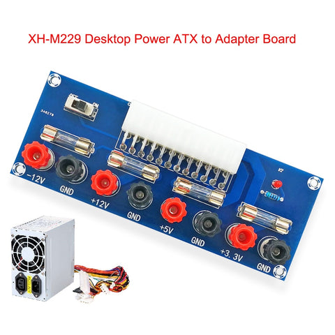XH-M229 Desktop PC Chassis Power ATX Transfer to Adapter Board Power Supply Circuit Outlet Module