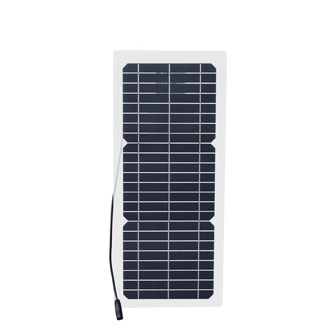 Xinpuguang 12v 10w Transparent semi-flexible silicon Monocrystalline solar panel cell DC module