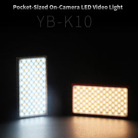 YB-K10 Pocket-sized On Camera LED Video Light 180 LEDs Light High CRI 3200K-5600K Photography Lamp