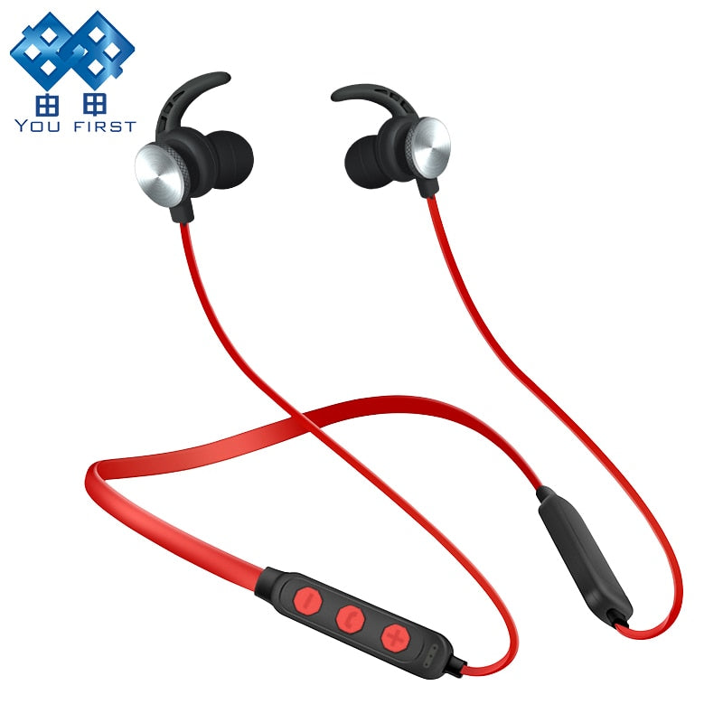 YOU FIRST Wireless Headphones Bluetooth Headset Sport Stereo Magnetic Bluetooth Earphone