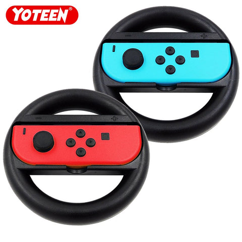 Yoteen 2Pcs Joy-Con Wheel for Nintend Switch Racing Game Wheel Controller NS Joy-Con Grip Cart