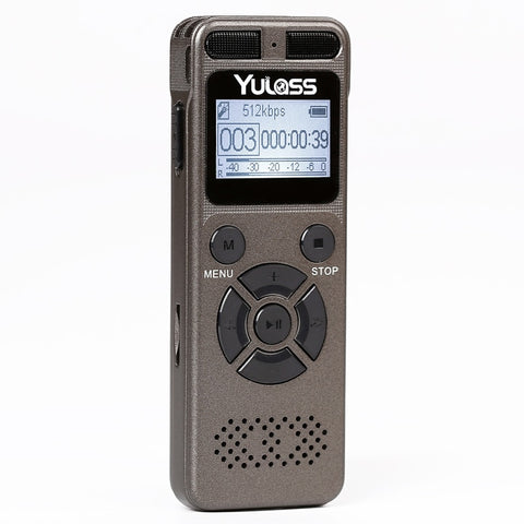 Yulass 8GB Professional Audio Recorder Business Portable Digital Voice Recorder USB Support