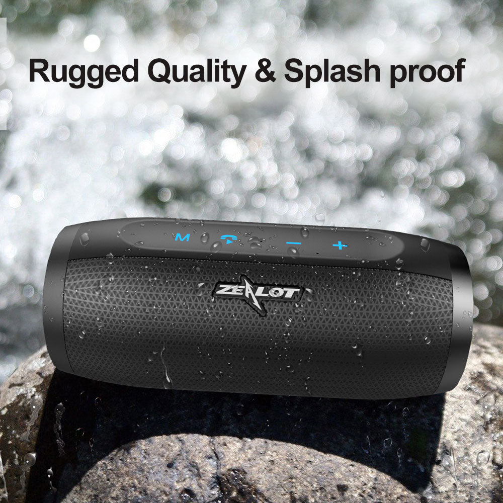 ZEALOT S16 New 3D Stereo Bluetooth Speaker Portable Wireless Bass Column Subwoofer Speakers with